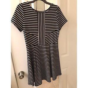Francesca's Black and White Strip Dress